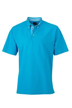 jn964 men's plain polo turquoise