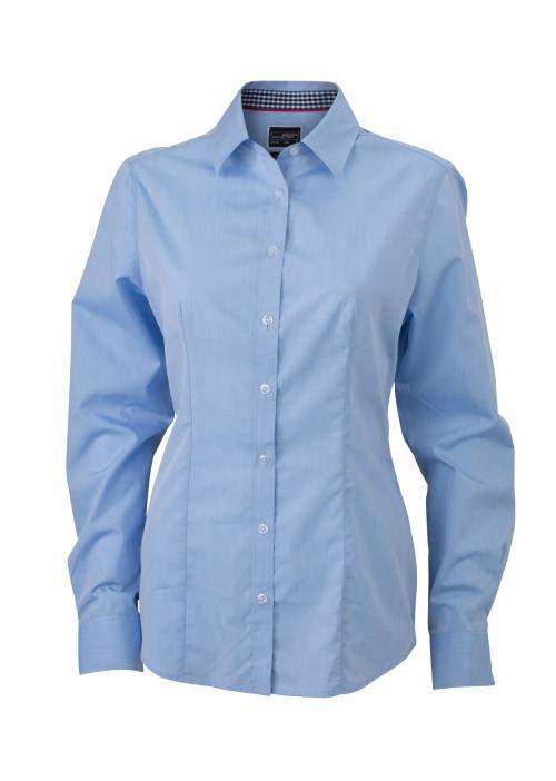 plain blouse licht blauw