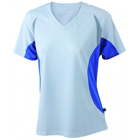 jn390 atletiek-shirt-voor-dames wit-blauw